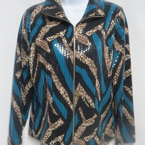NEW Exclusively Misook Shiny Paillettes Jacket XS